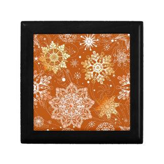 Modelo del fondo del copo de nieve, sel múltiple d joyero cuadrado pequeño