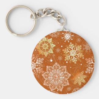 Modelo del fondo del copo de nieve, sel múltiple d llavero personalizado