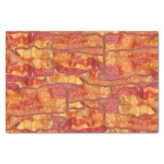 Modelo del fondo del tocino, comida frita papel de seda pequeño