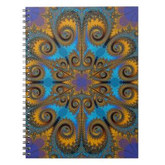 modelo del fractal de la escama de Paisley Libros De Apuntes