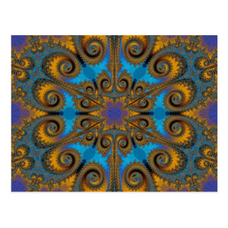 modelo del fractal de la escama de Paisley Tarjetas Postales