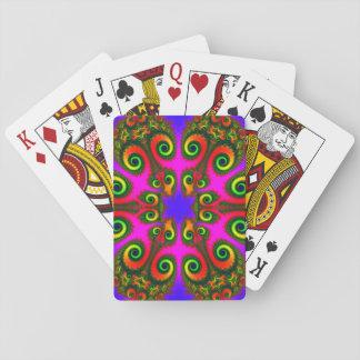 Modelo del fractal de la flor de Phoenix Cartas De Póquer