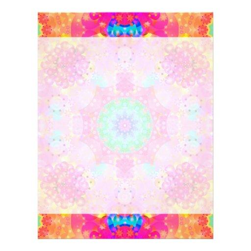 Modelo del fractal de las estrellas y de las burbu membrete a diseño