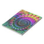 Modelo del fractal del arco iris del hippy blocs de notas