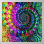 Modelo del fractal del arco iris del hippy posters