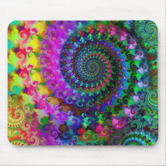 Modelo del fractal del arco iris del hippy tapete de ratón