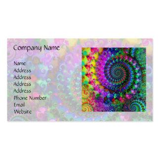 Modelo del fractal del arco iris del hippy plantillas de tarjetas personales