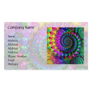 Modelo del fractal del arco iris del hippy tarjetas de visita