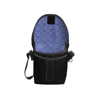 Modelo del fractal del azul real bolsa de mensajeria