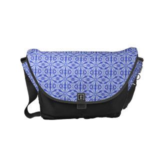 Modelo del fractal del azul real bolsas de mensajeria