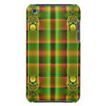 modelo del fractal del marrón del verde verde oliv barely there iPod cárcasa