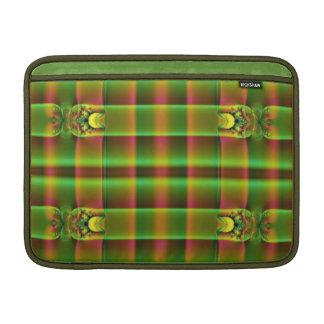 modelo del fractal del marrón del verde verde oliv fundas MacBook