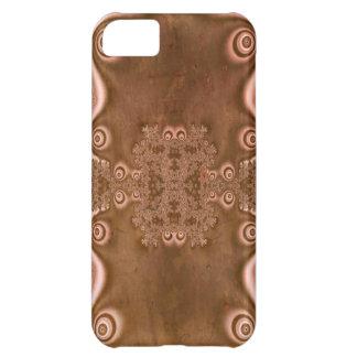 Modelo del fractal del metal de Brown del estilo d Funda Para iPhone 5C