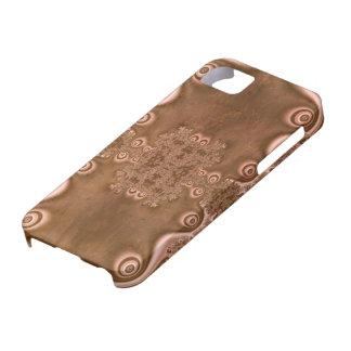 Modelo del fractal del metal de Brown del estilo Funda Para iPhone 5 Barely There