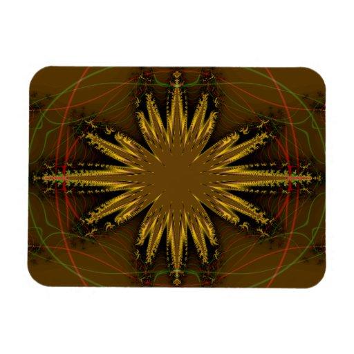 Modelo del fractal del nativo americano iman de vinilo