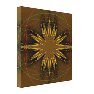 Modelo del fractal del nativo americano impresión en lona