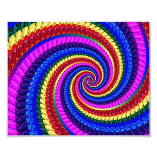 Modelo del fractal del remolino del arco iris impresiones fotográficas