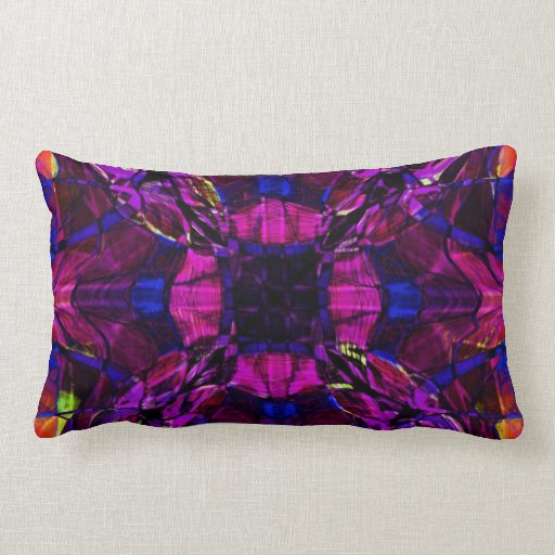 Modelo del fractal en púrpura almohadas