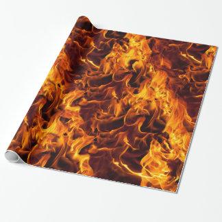 Modelo del fuego y de la llama papel de regalo