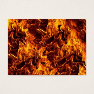Modelo del fuego y de la llama tarjeta de negocios