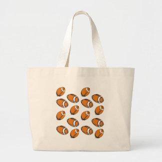 modelo del fútbol bolsas lienzo