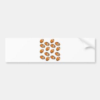 modelo del fútbol etiqueta de parachoque