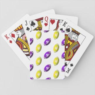 Modelo del fútbol del oro púrpura y amarillo cartas de póquer