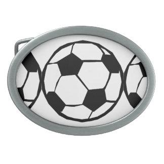 Modelo del fútbol hebilla de cinturon oval