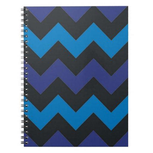 Modelo del galón del negro azul libro de apuntes con espiral