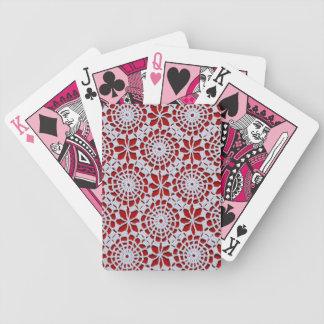 Modelo del ganchillo del vintage cartas de juego