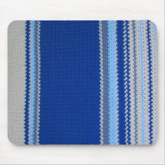 Modelo del ganchillo - rayas azules alfombrillas de raton