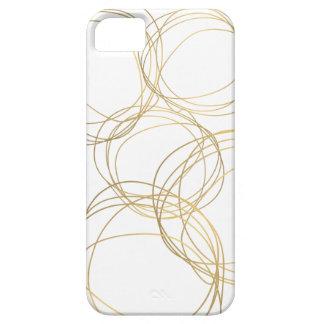 Modelo del garabato del diseñador en oro en blanco iPhone 5 protectores