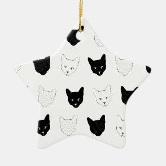 Modelo del gato ornaments para arbol de navidad