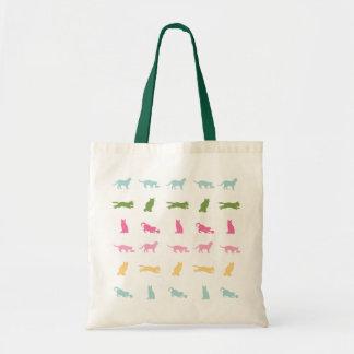 Modelo del gato del arco iris bolsas