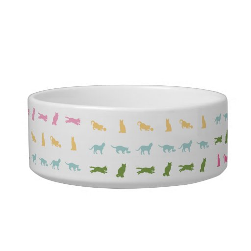 Modelo del gato del arco iris tazones para comida para gato