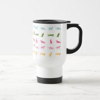 Modelo del gato del arco iris tazas