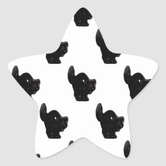 Modelo del gato negro de Halloween Colcomanias Forma De Estrellas