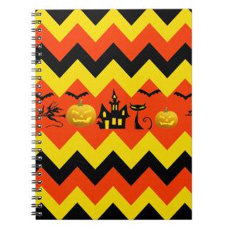 Modelo del gato negro de la casa encantada de Hall Cuadernos