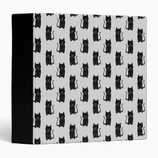 "Modelo del gato negro en gris claro. carpeta 1 1/2"""