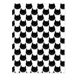 Modelo del gato negro postales