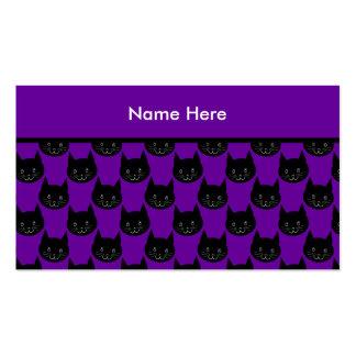 Modelo del gato negro tarjetas de visita
