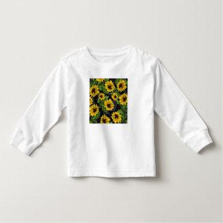 Modelo del girasol del vintage tshirts