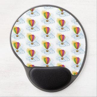 Modelo del globo del aire caliente alfombrilla de raton con gel