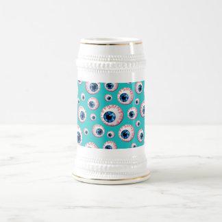 Modelo del globo del ojo de la turquesa jarra de cerveza