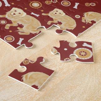Modelo del golden retriever puzzles