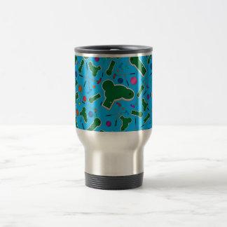 Modelo del golf del azul de cielo mini taza de viaje de acero inoxidable