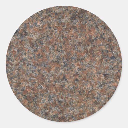 Modelo del granito pegatina