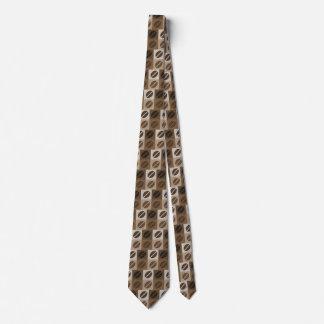 Modelo del grano de café corbatas personalizadas
