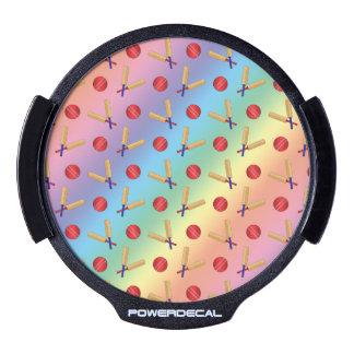 Modelo del grillo del arco iris pegatina LED para ventana