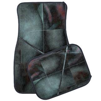 Modelo del grunge del mosaico - negro azul alfombrilla de auto